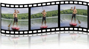 Paddelwechsel beim Stand Up Paddling