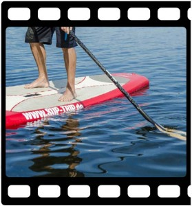 Stabilistation beim Stand Up Paddling
