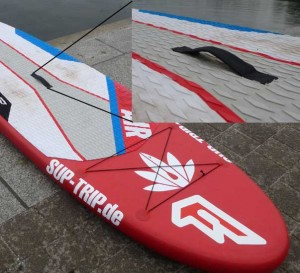 Der Griff am Stand Up Paddle Board