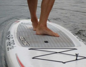Stand Up Paddling Technik Crossstep