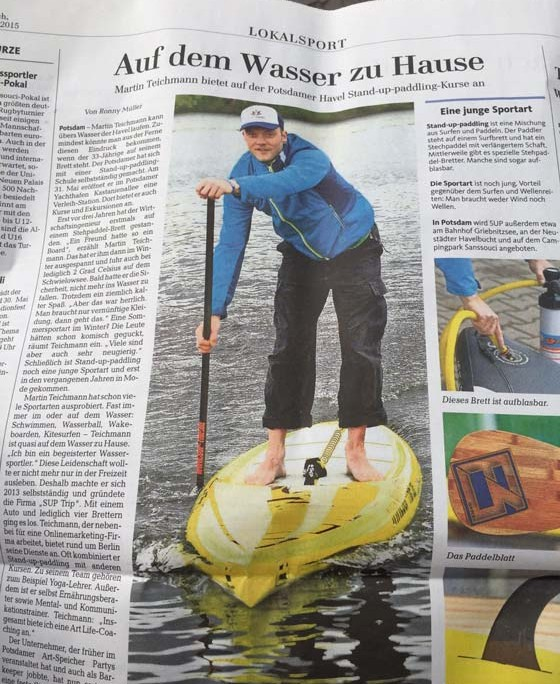 Stand Up Paddling in der MAZ Potsdam