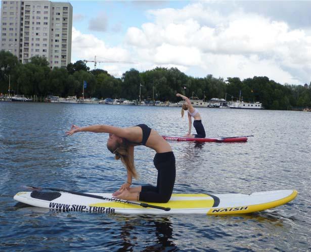 Stand Up Paddling Yoga