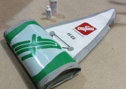 Eingerolltes iSUP mit Grandtouringsports Reinigungsmittel
