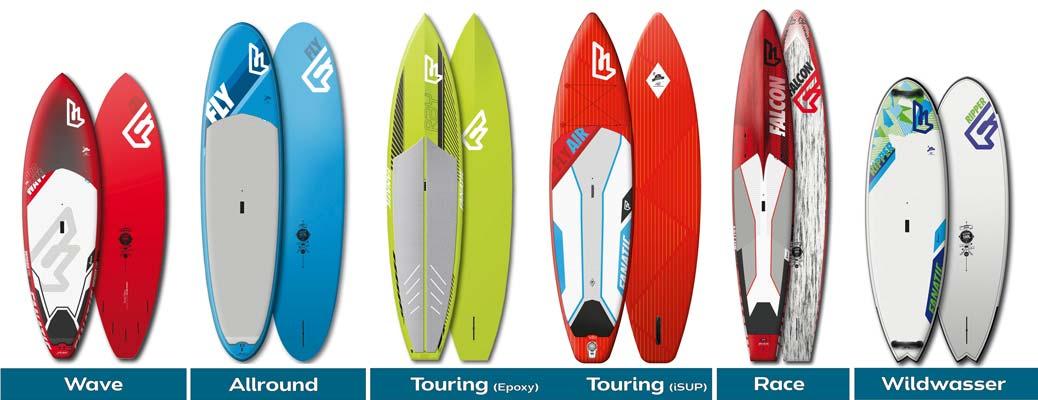 Die verschiedenen SUP Boards