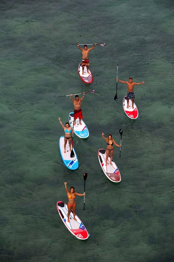Stand Up Paddler Gruppenbild