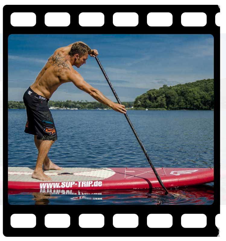 Der sportliche SUP Paddleschlag
