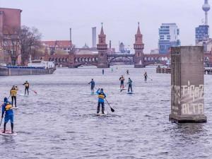 SUP Paddeln in Berlin ins Neue Jahr