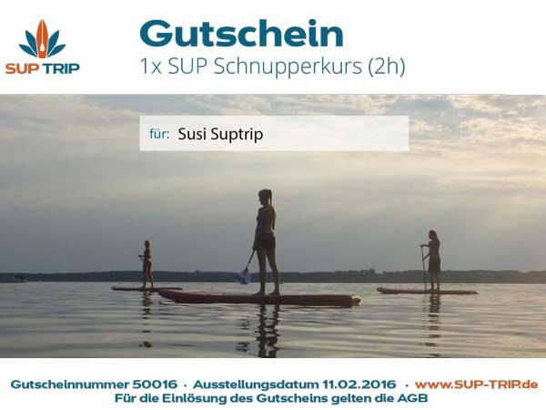 Stand Up Paddling Gutschein