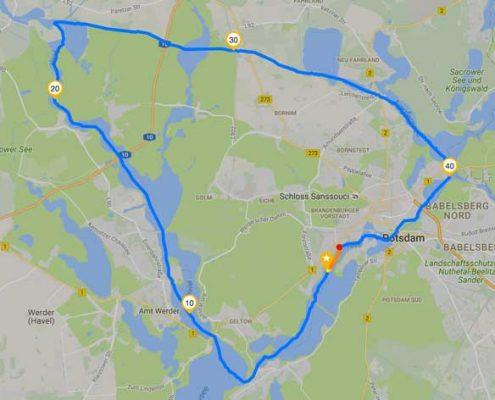 Mit dem SUP um Potsdam
