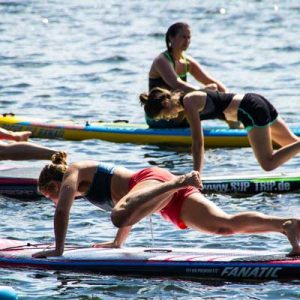 SUP Crossfit in Potsdam - Fitness auf dem Stand Up Paddle Board